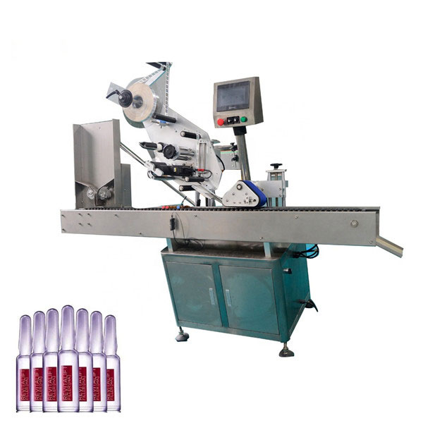 Intelligent Control Sus304 Economy Automatic Cosmetics Vial Labelling Machine