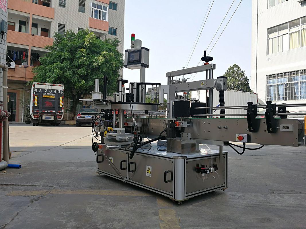 მაღალსიჩქარიანი ავტომატური სამი გვერდითი კვადრატული ბოთლის ეტიკეტის აპლიკატორი მანქანა