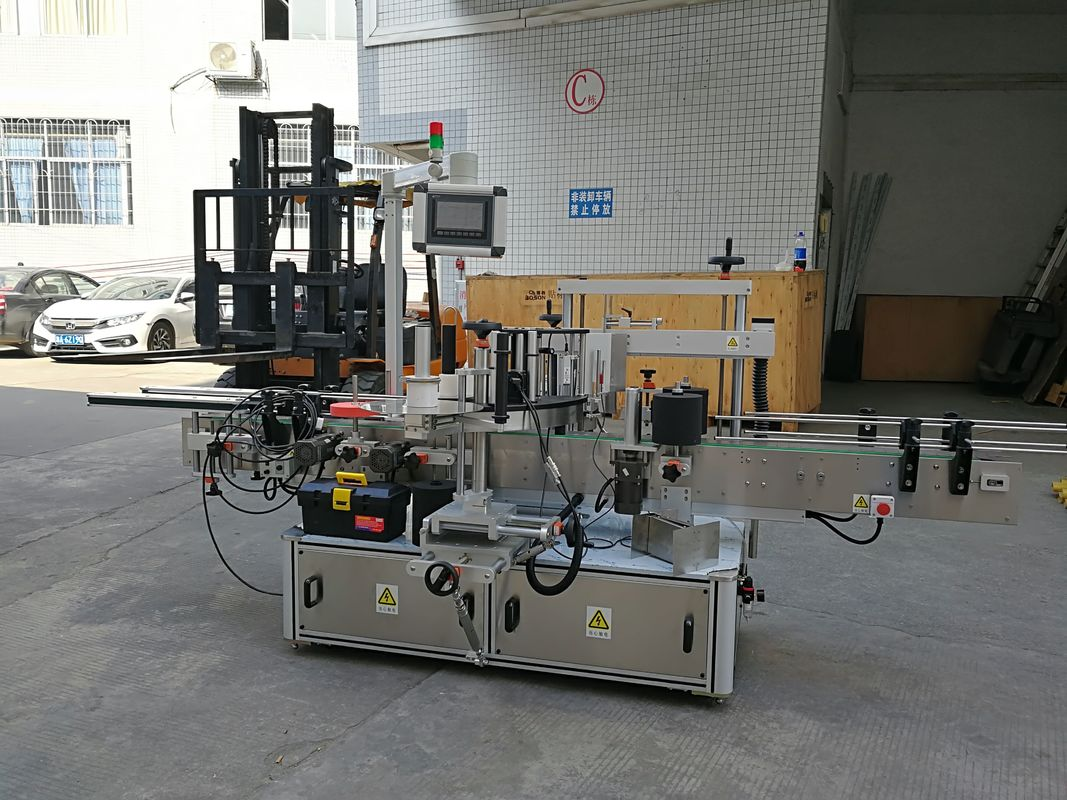 CE ავტომატური სტიკერების ეტიკეტირების მანქანა მცირე მუყაოს კუთხეების დალუქვისთვის
